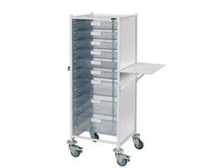VISTA 120 Trolley - 6 Single/3 Double Clear Trays