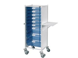 VISTA 120 Trolley - 6 Single/3 Double Blue Trays
