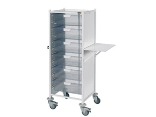 VISTA 120 Trolley - 6 Double Clear Trays