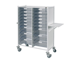 VISTA 240 Trolley - 12 Single/6 Double Clear Trays
