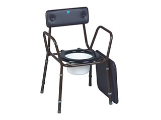 Calder Stackable Commode with Extendable Legs