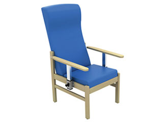 High-Back Arm Chair with Drop Arms