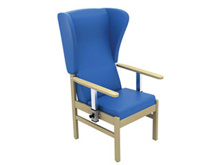 High-Back Arm Chair with Drop Arms & Wings