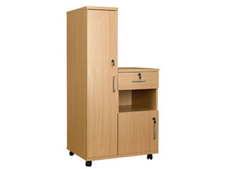 Bedside Cabinet Combination with Locks - Left Hand Side (Laminate Faced MDF)
