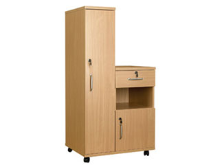 Bedside Cabinet Combination with Locks - Right Hand Side (MFC Material)
