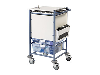Medical Notes Trolley (small) with Enclosed Sides & Hinged Locking Top
