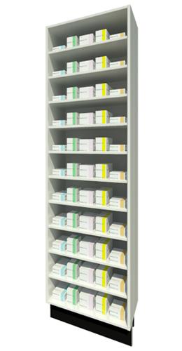 Full Height Unit 315mm Depth with Ten Shelves