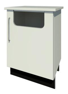 Bench Waste Bin & Door with Handle (Left Handed)
