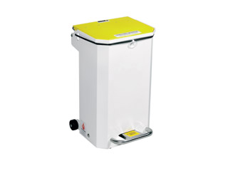 20 Litre Clinical Bin with Yellow Lid - Waste for incineration