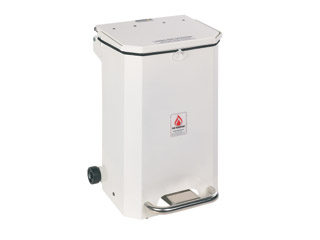 70 Litre Clinical Bin with White Lid - General use