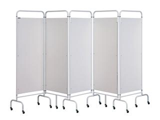 Five Panel Screen - White