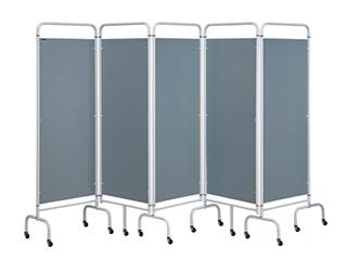 Five Panel Screen - Silver