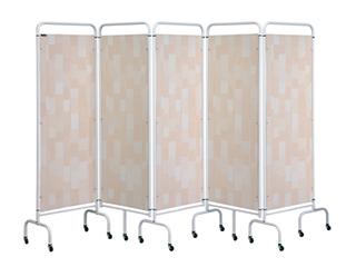 Five Panel Screen - Beige Patchwork