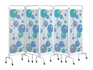 Five Panel Screen - Bubble Design