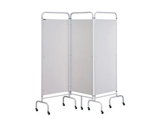 Three Panel Screen - White