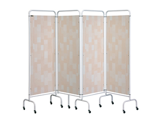 Four Panel Screen - Beige Patchwork