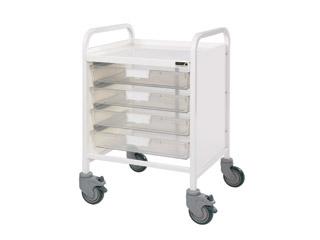 Vista 20 Trolley - 4 Single Clear Trays