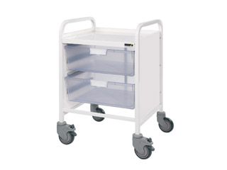 Vista 20 Trolley - 2 Double Clear Trays
