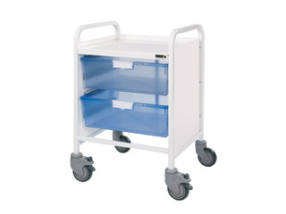 Vista 20 Trolley - 2 Double Blue Trays