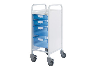 Vista 30 Trolley - 2 Single/2 Double Blue Trays