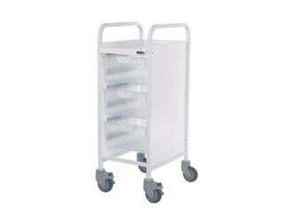 Vista 30 Trolley - 3 Double Clear Trays