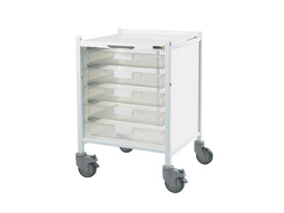 Vista 40 Trolley - 5 Single Clear Trays