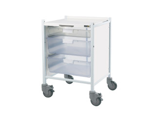Vista 40 Trolley - 1 Single/2 Double Clear Trays