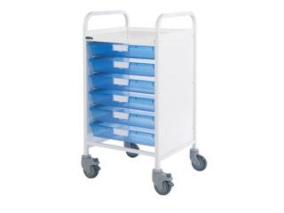 Vista 50 Trolley - 6 Single Blue Trays