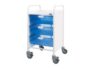 Vista 50 Trolley - 3 Double Blue Trays