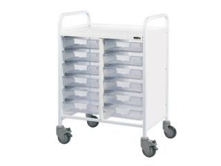 Vista 60 Trolley - 12 Single Clear Trays
