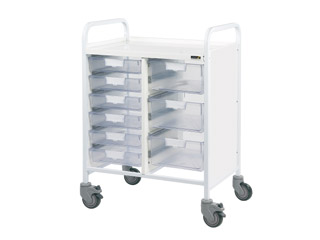 Vista 60 Trolley - 6 Single/3 Double Clear Trays