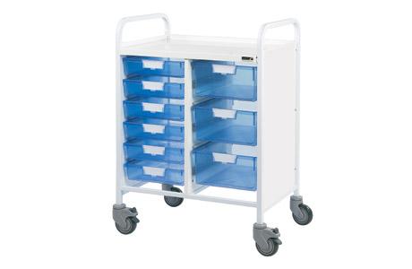 Vista 60 Trolley - 6 Single/3 Double Blue Trays