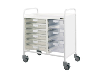Vista 80 Trolley - 6 Single/3 Double Clear Trays