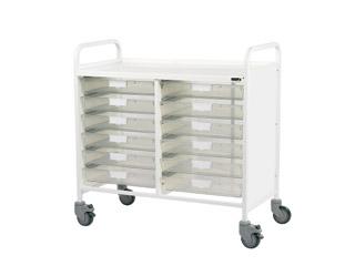 Vista 100 Trolley - 12 Single Clear Trays