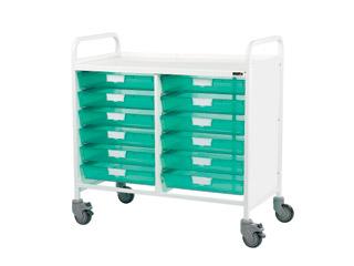 Vista 100 Trolley - 12 Single Green Trays