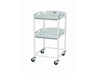 Dressing Trolley - 2 Glass Effect Safety Trays