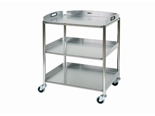 Dressing Trolleys - 3 Stainless Steel Trays