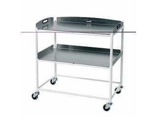 Dressings Trolley - 2 Stainless Steel Trays