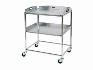 Surgical Trolley - 2 Stainless Steel Trays - Length 660mm