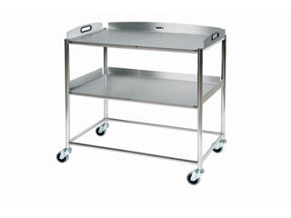 Surgical Trolley - 2 Stainless Steel Trays - Length 860mm