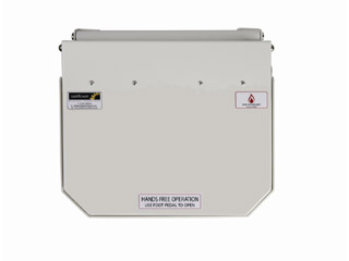 50 Litre Clinical Bin with White Lid - Amalgam Waste