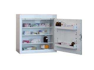 Medicine Cabinet 108 Litre with 3 shelves & 3 door trays, one door