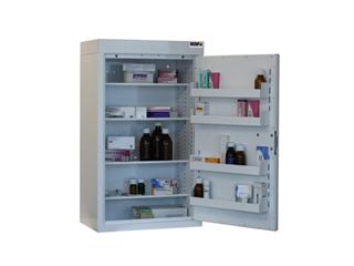 Medicine Cabinet 127 Litre with 4 shelves & 4 door trays, one door