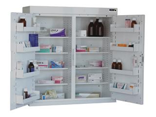 Medicine Cabinet 204 Litre with 8 shelves & 8 door trays, two doors