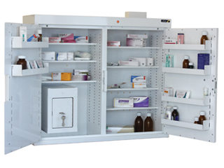 Medicine Cabinet 255 Litre with 17 Litre Inner Drug Cabinet