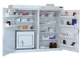 Medicine Cabinet 255 Litre with 27 Litre Inner Drug Cabinet
