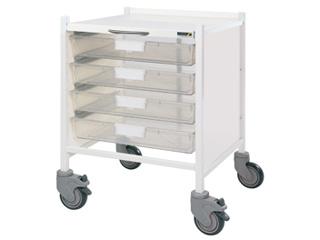 Vista 15 Trolley - Four Single Clear Trays