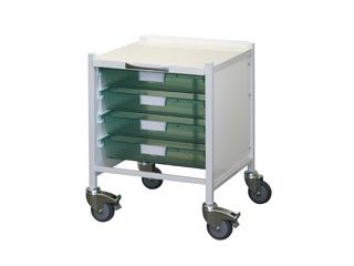 Vista 15 Trolley - Four Single Green Trays