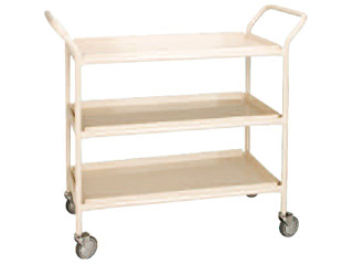 General Purpose Trolley 2 Tier with 2 Aluminium Trays and Buffers