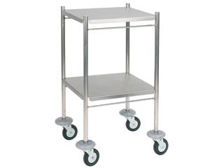 Dressing Trolley 460mm (W) - Stainless Steel with Two Shelves